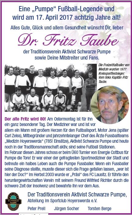 Dr. Fritz Taube – Traditionsverein